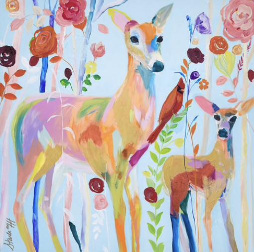 """""""Deer & Cardinal"""""""