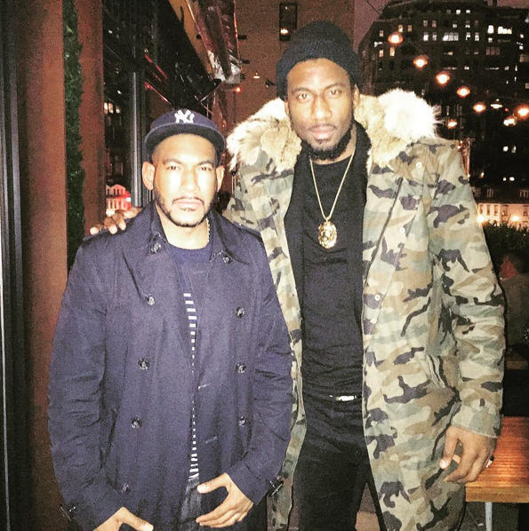Amar'e Stoudemire was spotted wearing a Lord Studios Fur-Lined  Parka. Doesn't that rabbit fur look super warm and plush?