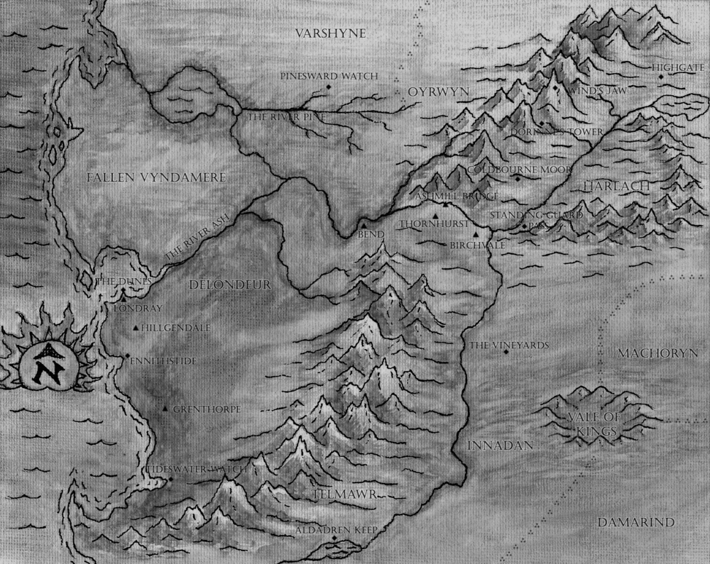Black & white map of the Baronies (click for larger version)