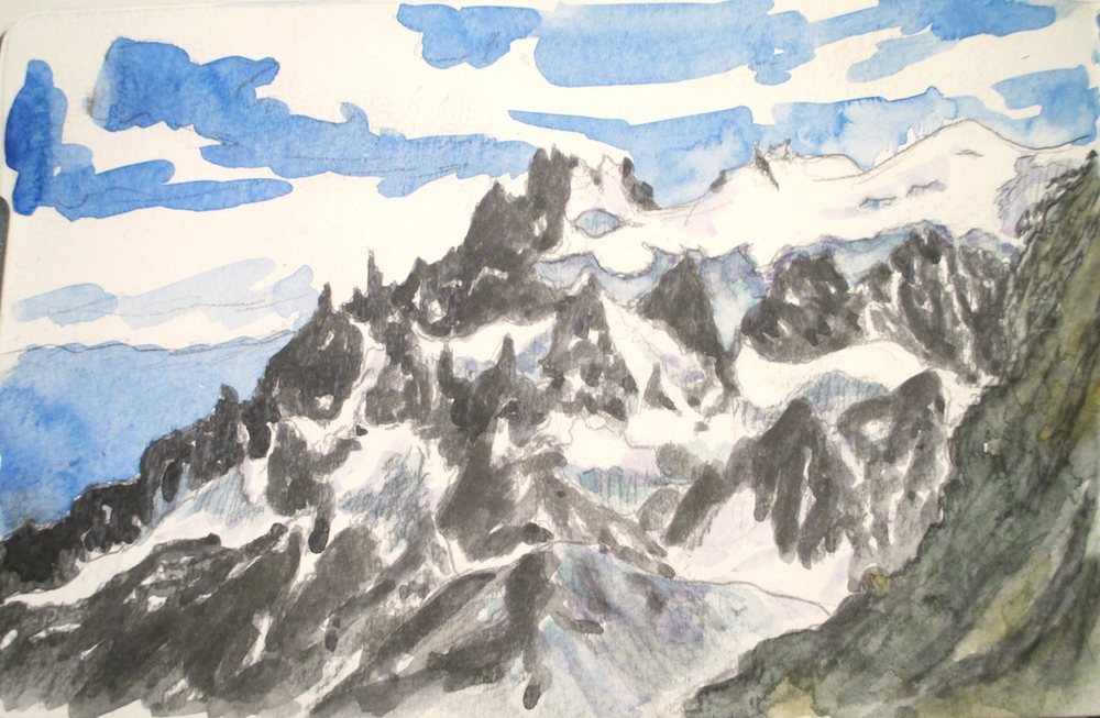 Watercolor sketch, 2015.  Paine Grande, Torres del Paine, Chilean Patagonia