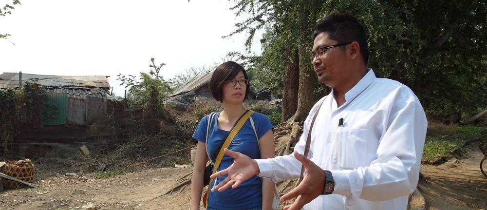 2016 年 3 月 Glocal Action 拜訪新浪潮小學及 Zaw Htat 校長。