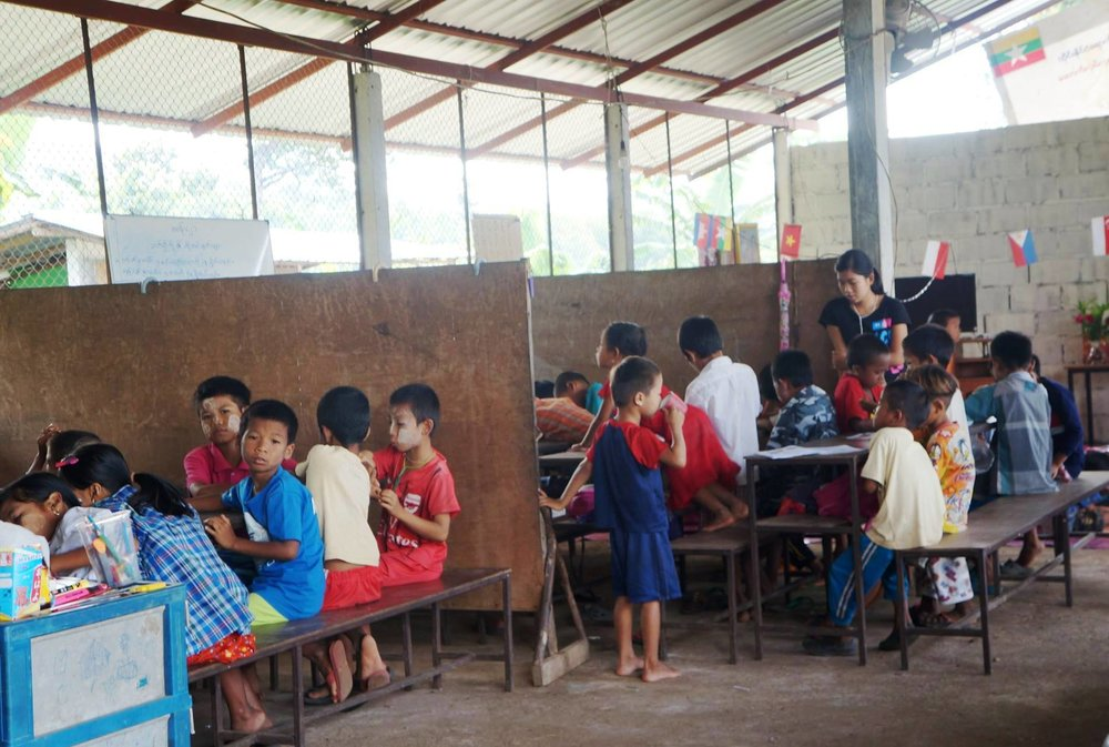 文人小學,位於泰緬邊境的緬甸移工學校。(圖/劉雅玲)