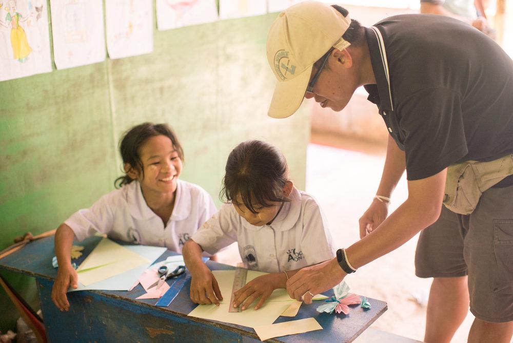 對孩子來說,能上學是快樂而值得珍惜的事。(攝影╱余博強)
