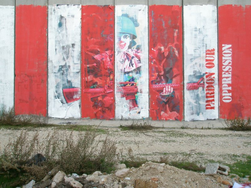 Ron English, Pardon Our Oppression, West Bank Seperation Barrier (Verena Tan).jpg