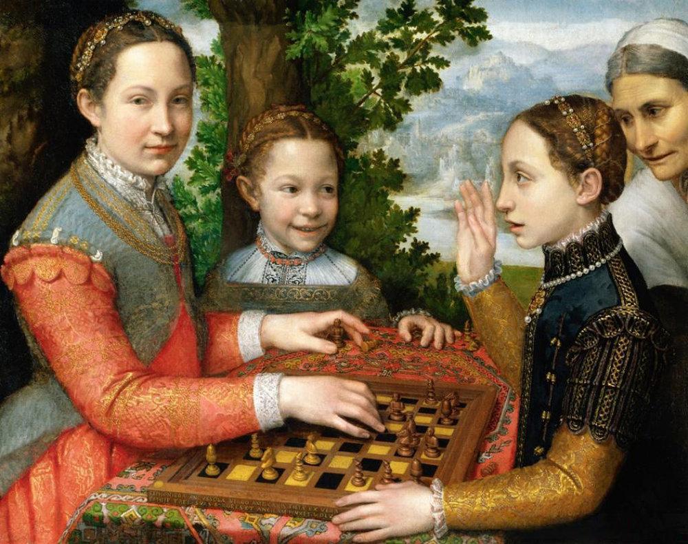 Sofonisba Anguissola,  The Chess Game , 1555. National Museum, Poznan. Photo: Wikimedia Commons
