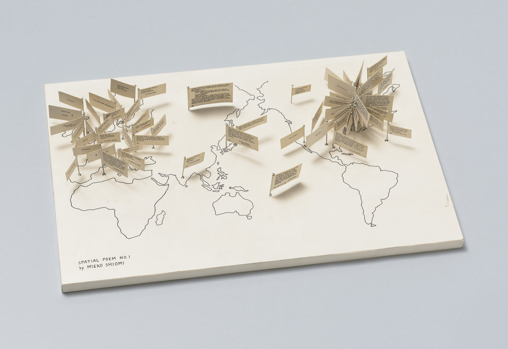 Mieko Shiomi.  Spatial Poem No. 1,  1965 . The Gilbert and Lila Silverman Fluxus Collection Gift, the Museum of Modern Art, New York.