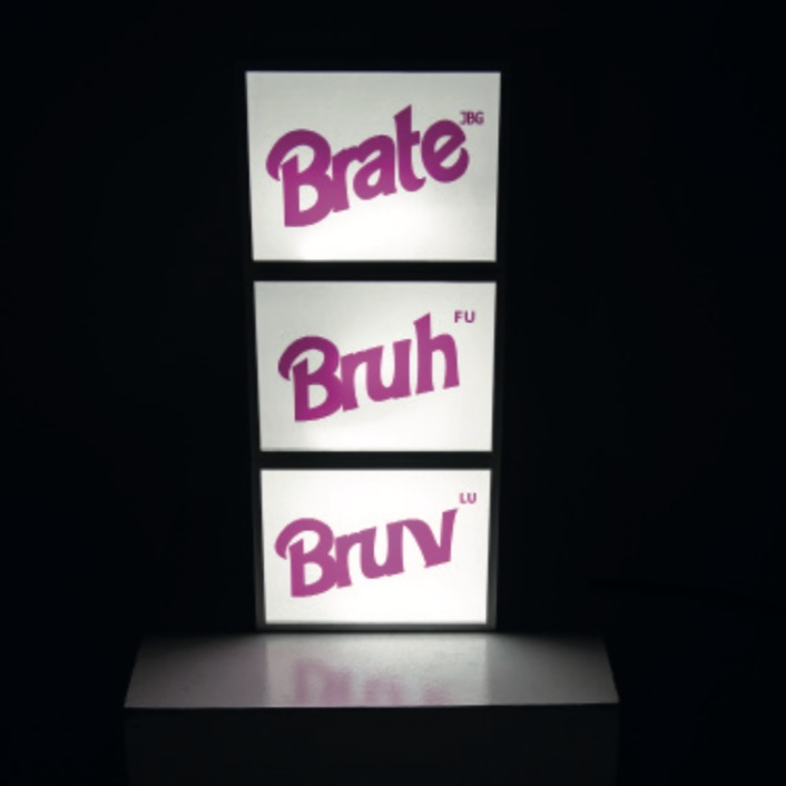 The Fraternity , set of light boxes, 2018. Courtesy of the artist.