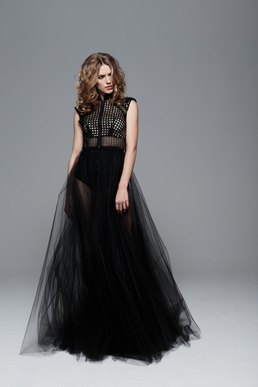 Axis Vest and Tulle Skirt