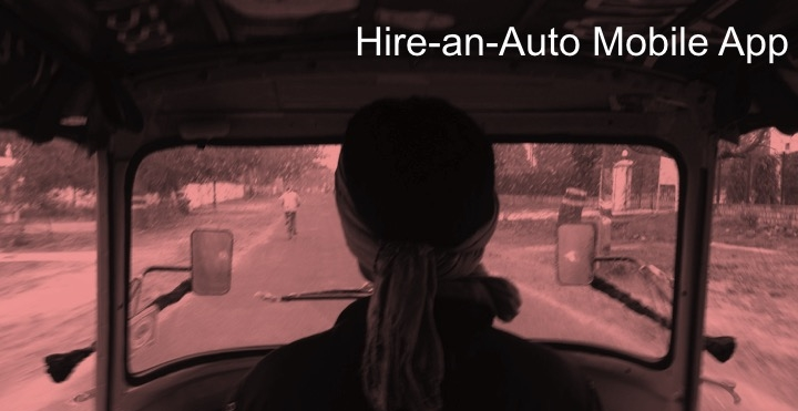 What are the market needs to launch an auto hiring mobile app in Ahmedabad, India?