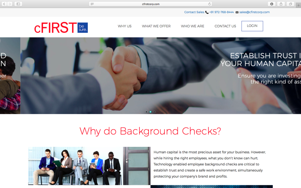How can cFIRST position its brand for increased conversion through its website?