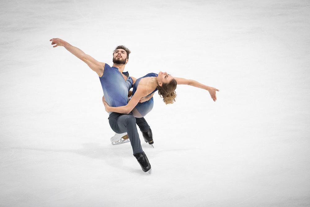 Gabriella Papadakis & Guillaume Cizeron, France // Free dance practice // Grand Prix of France, Paris 2016
