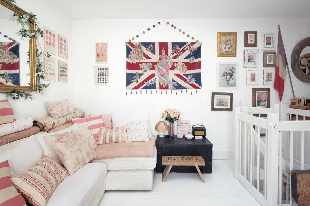 a designer's perfectly pink home in notting hill, london
