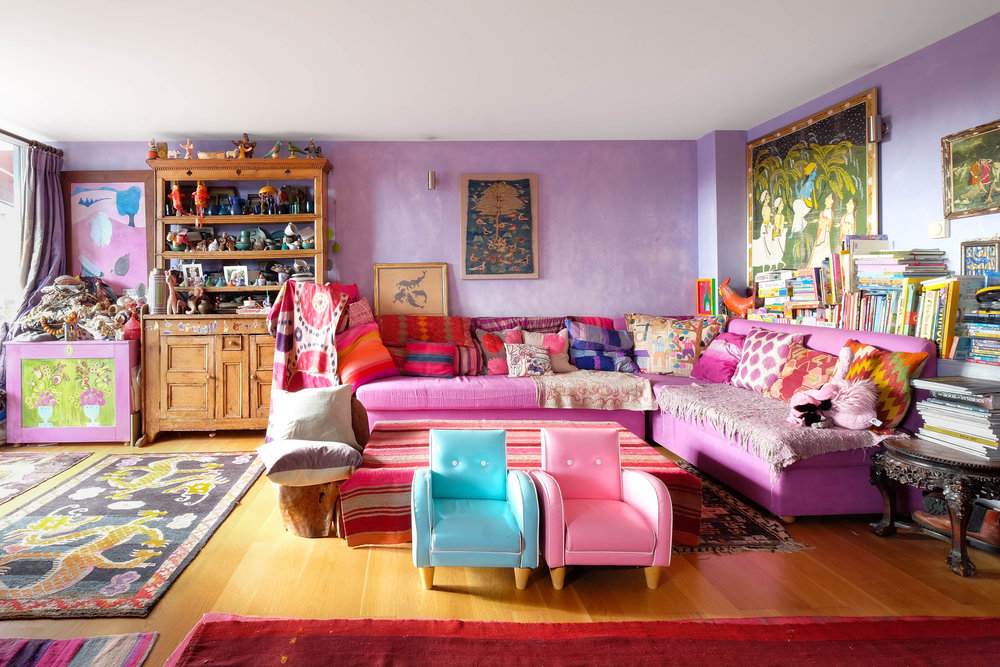 editorial  /  Jewellery designer Pippa Small's  colourful home in London