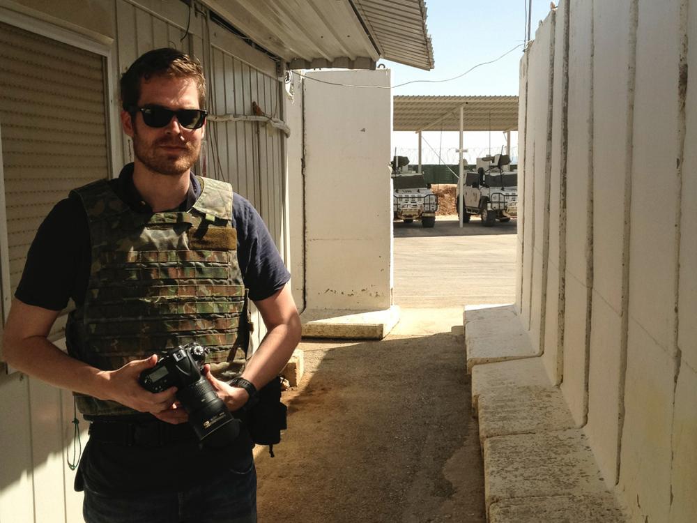 On the Spanish UNIFIL outpost near Ghajar, South Lebanon