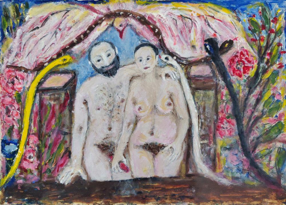 ביאנקה אשל גרשוני, ללא כותרת, שמן על נייר, 2011