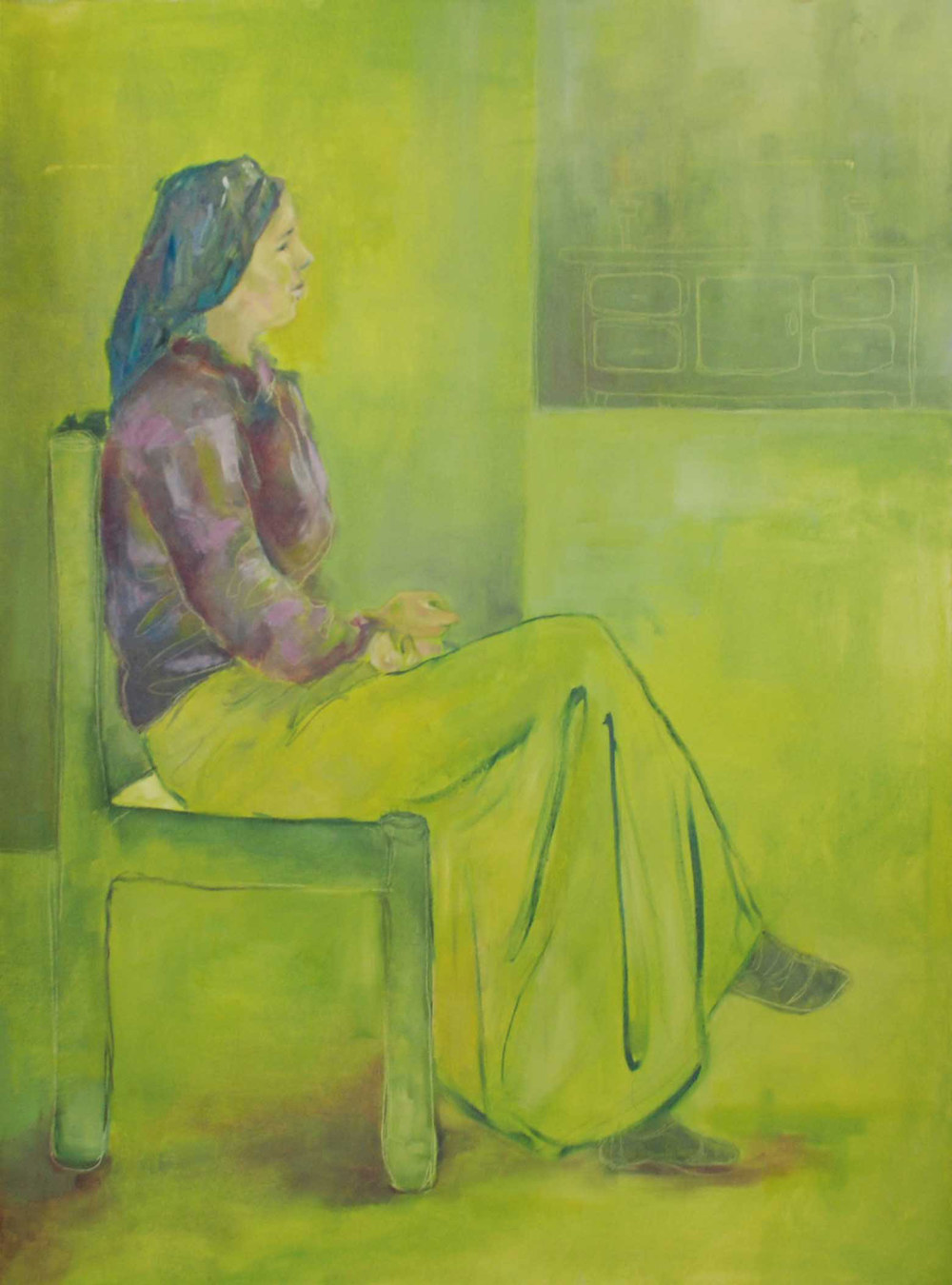 Oil and acrylic on canvas, 50*70 cm, 2005