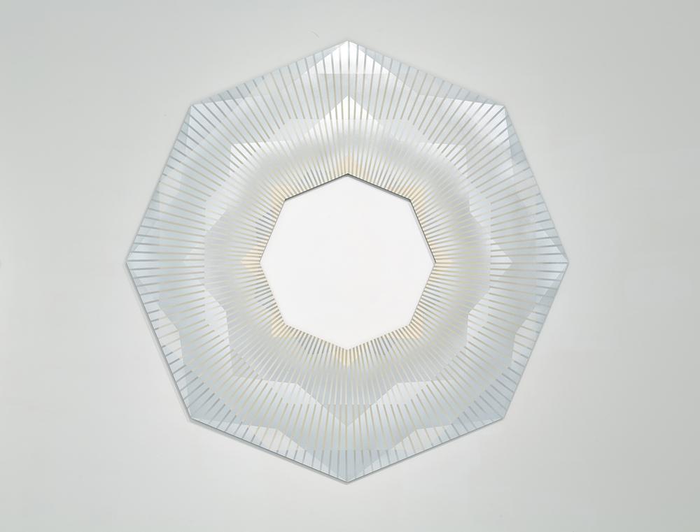 Radiant Enclosure 3,2014 spray enamel on aluminum panel 60 x 60 x 38 in