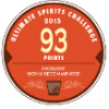 93 points, Excellent, Highly Recommended, Ultimate Spirits Challenge 2015, USA