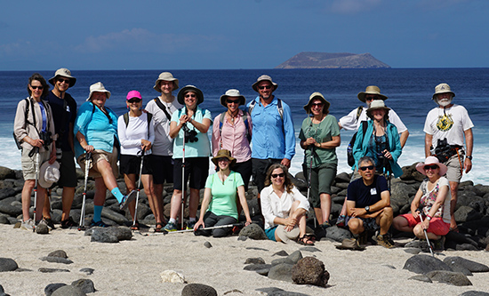 Participants in the February 2017 Galapagos Conservancy voyage. Photo © Richard Polatty