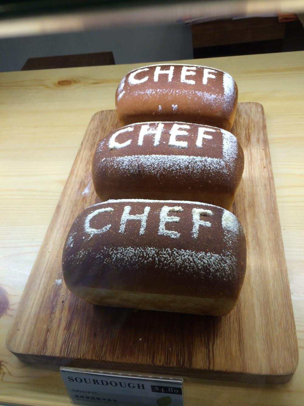 Chef homemade sourdough bread