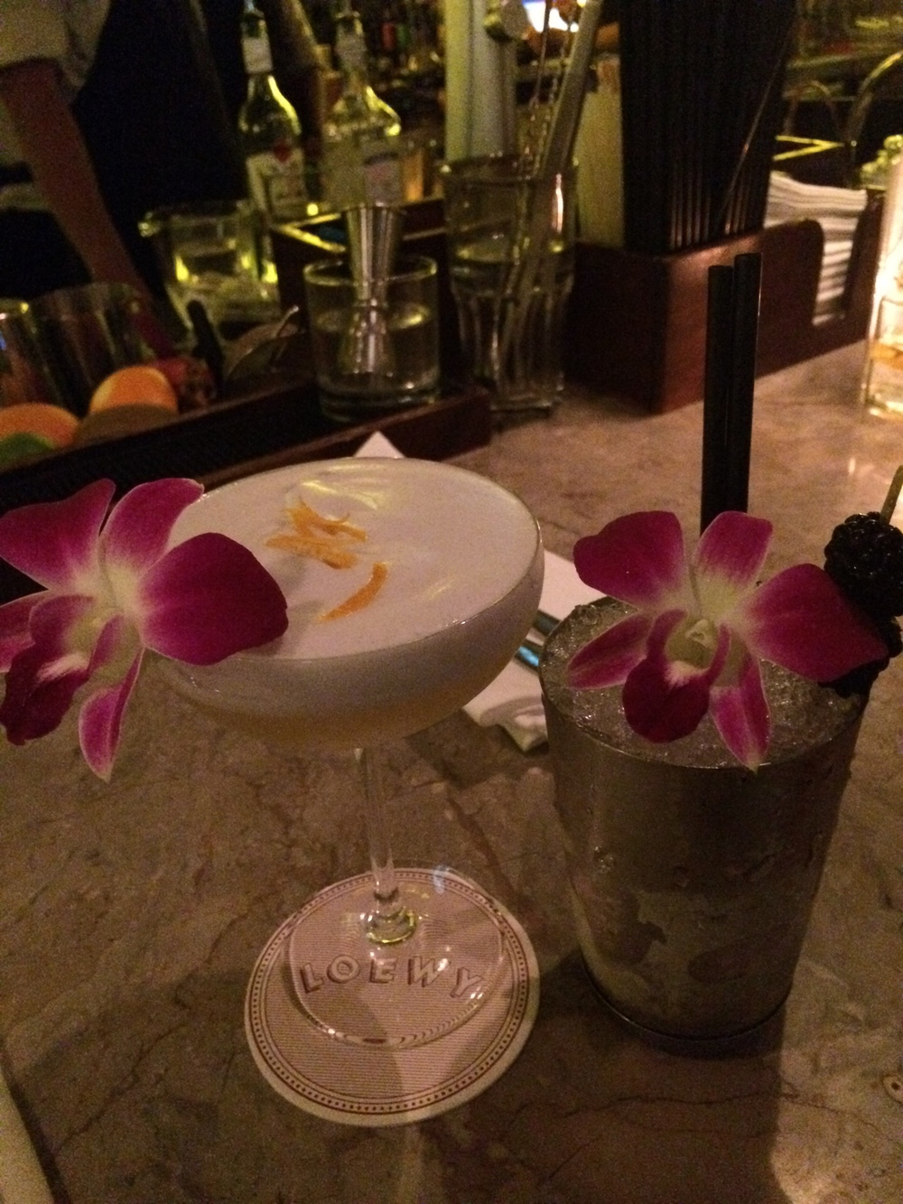 Cocktails at Loewys