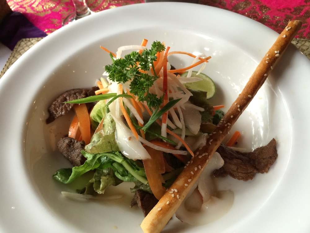 Spicy Thai Beef Coconut Salad
