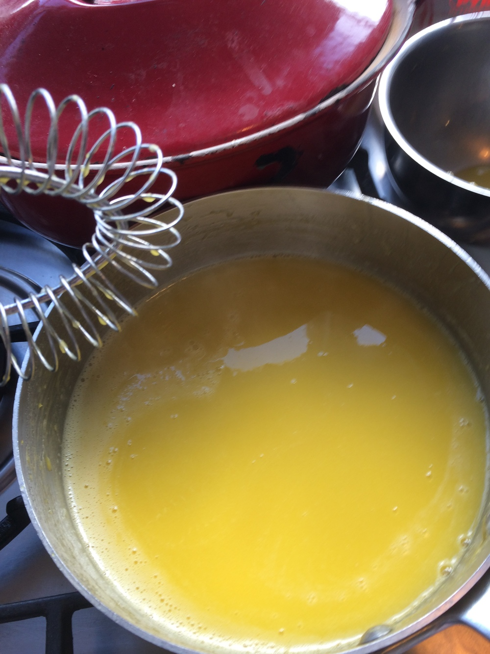 Lemon Curd in the making