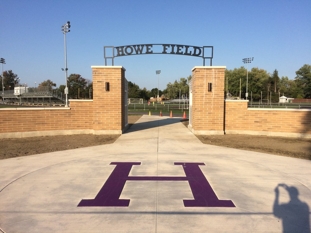 New Entry at Howe Field (Before Pavers and Landscape)