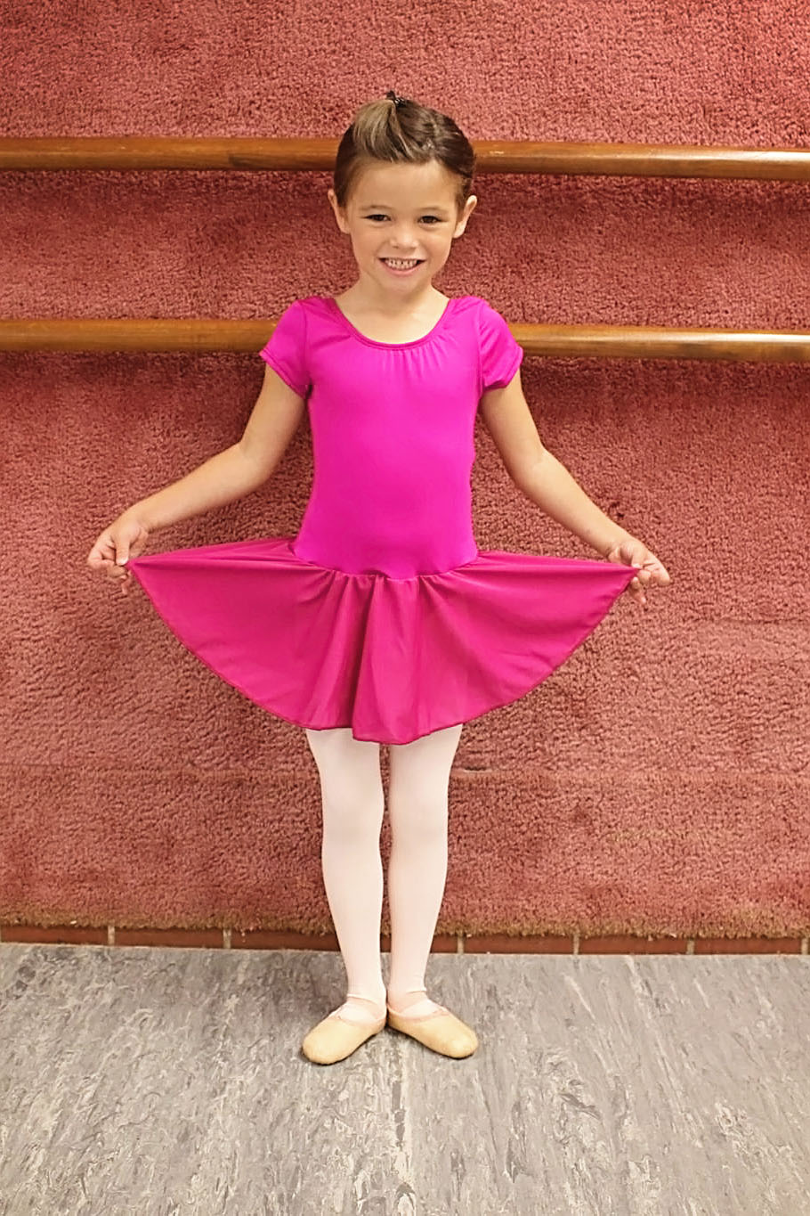 Magenta CapSleeve Dance Dress - Tiny Dance & Kinderdance