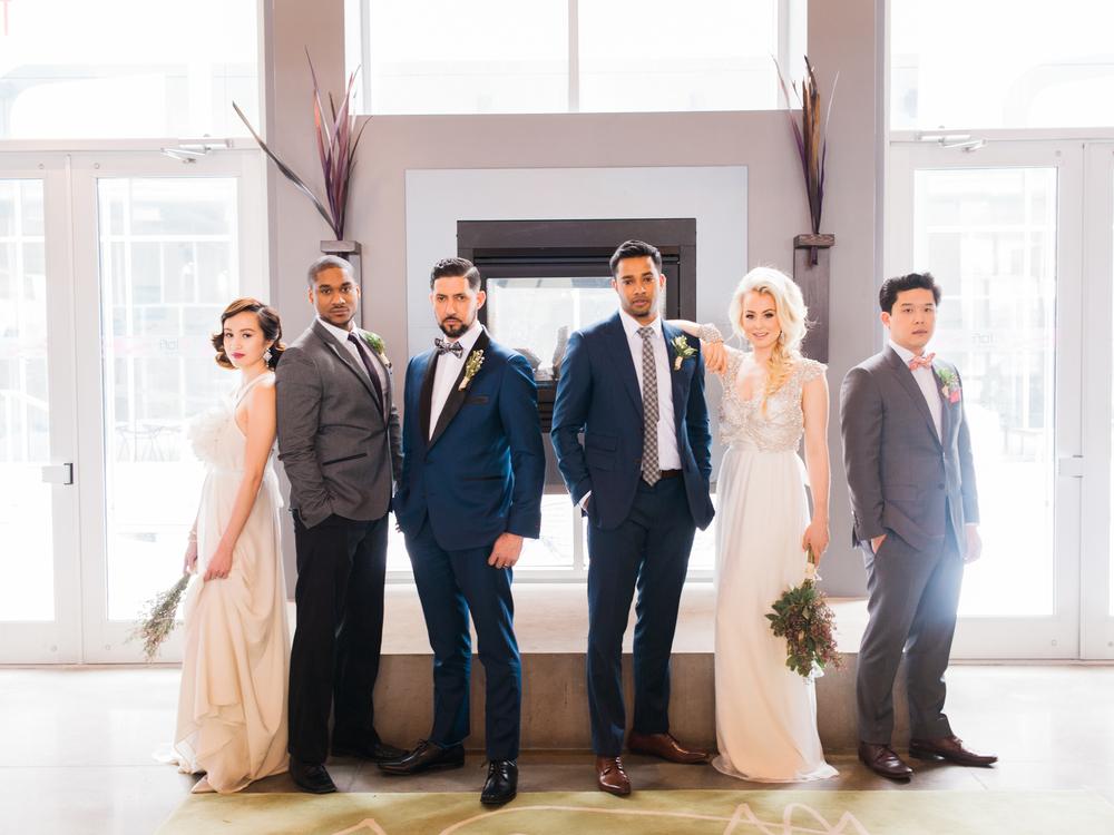 Photo:  @heidilauphoto  Tie:  @TYTAN_ties  Suit:  @moderationsuit  MUA:  @karenkimbeauty  Florals:  @delightfloraldesign