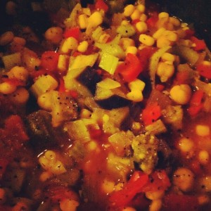 Farm Stand Chili in the slow cooker