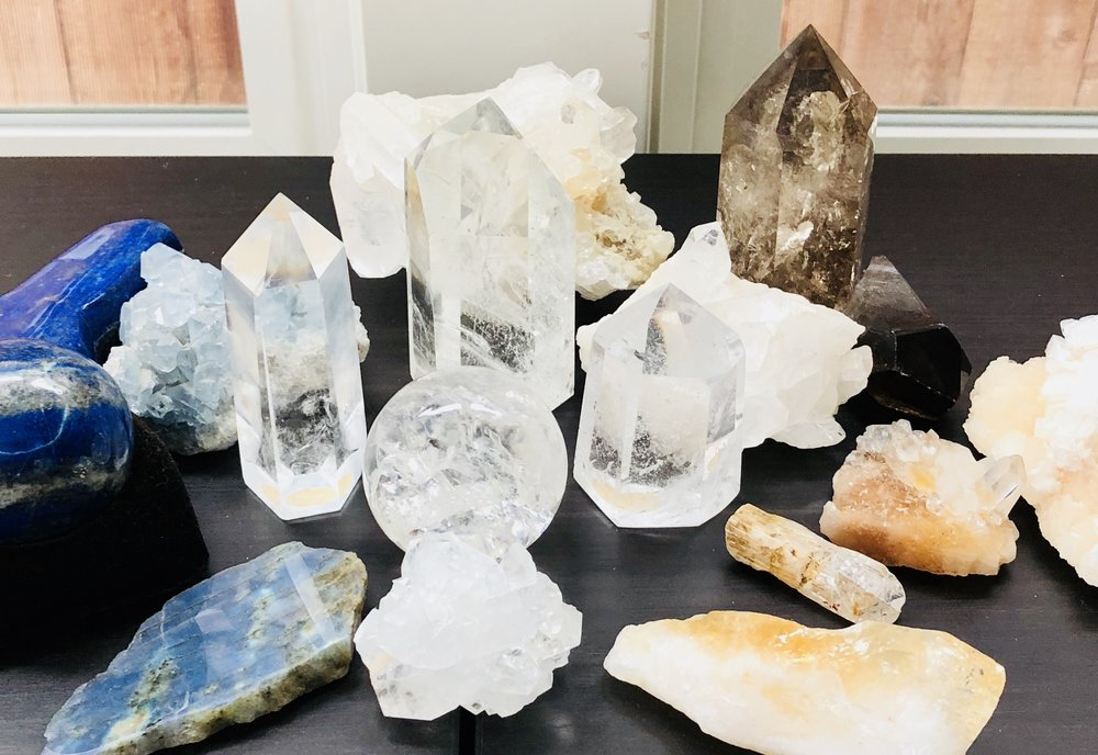 We love the magical quality that crystals contribute to a space.