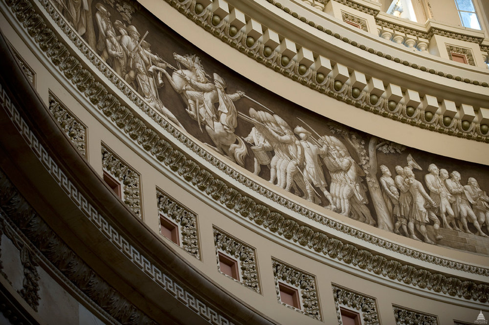 Frieze of American history in the Rotunda of the U.S. Capitol. Photo by Architects of the Capitol.