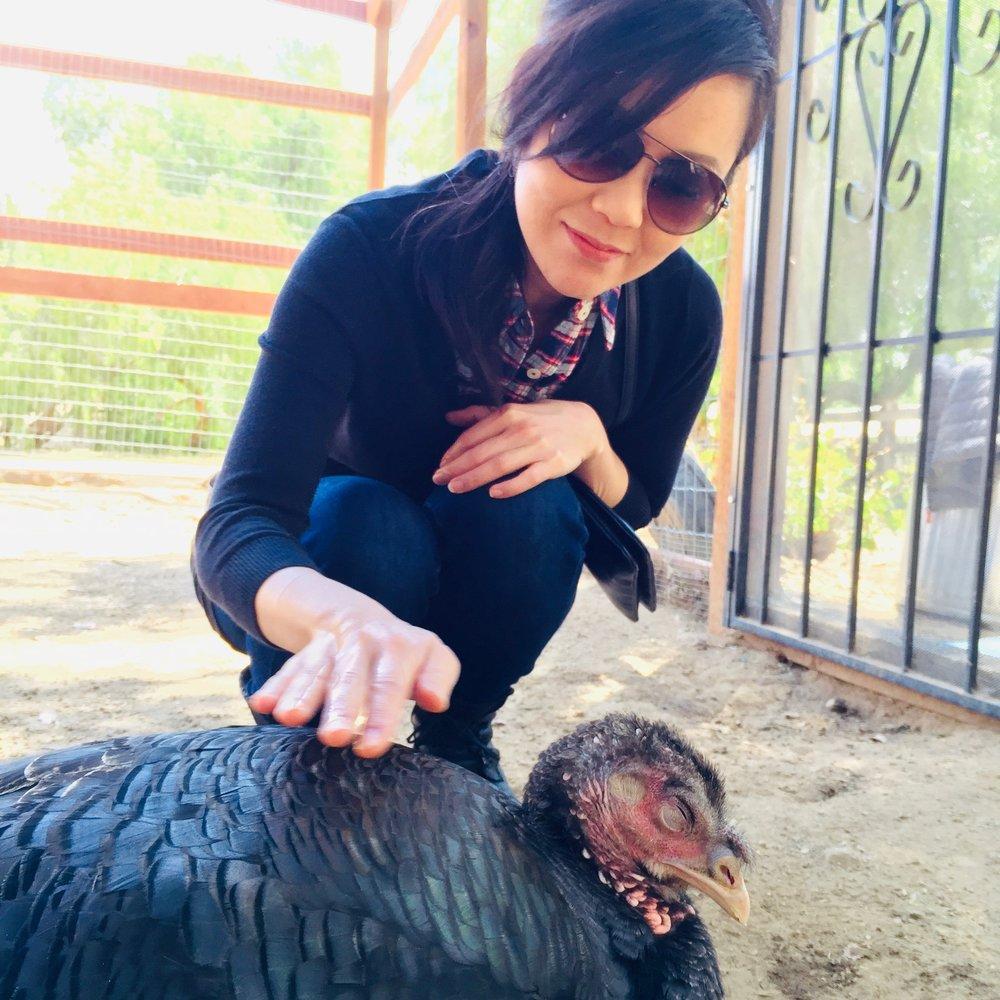 Siena with a turkey.jpeg