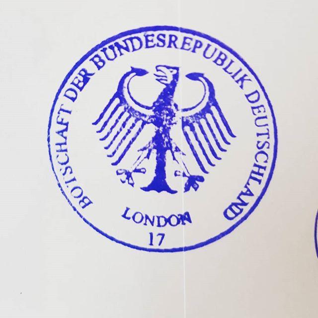 Stage 2 complete.  #stamp #bundesadler #royalblue