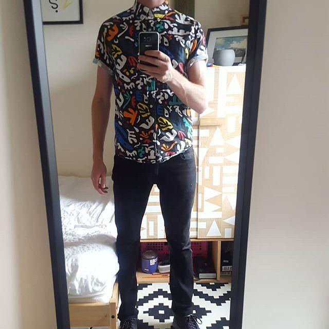 Too many patterns, too many many patterns.  #thequietlife #alsoadam #wardrobe #miniroom #geometric #matisse