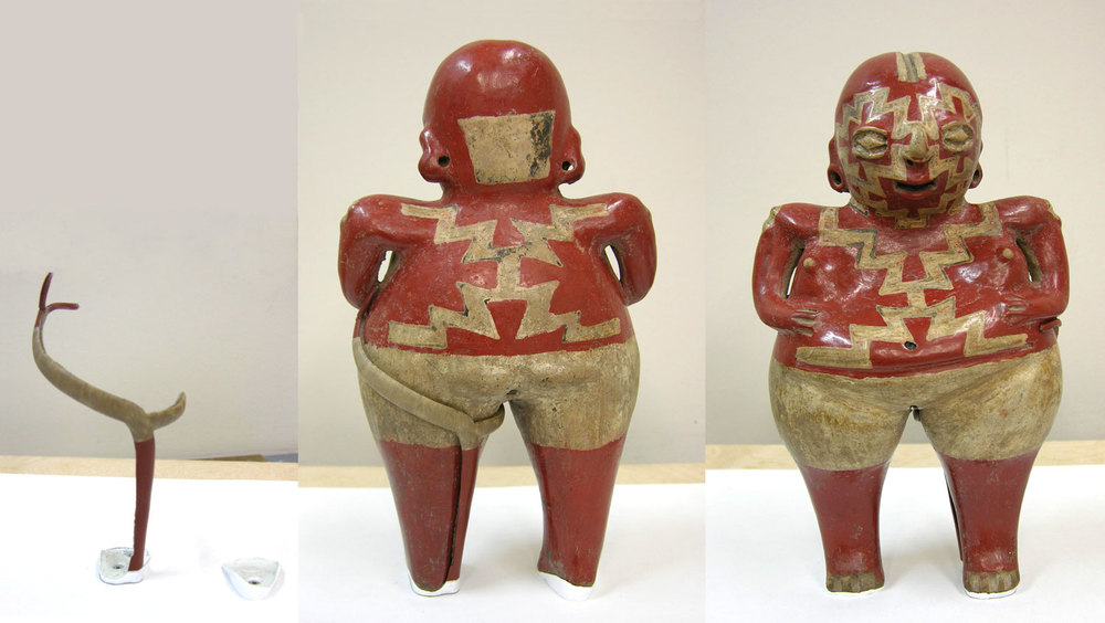 Courtesy of The Saint Louis Art Museum  Chupicuaro, c.300 BC-300 AD;  Standing Female Figurine ; ceramic with slip; 24.4 x 14.3 x 8.3 cm; Gift of Morton D. May 242:1978