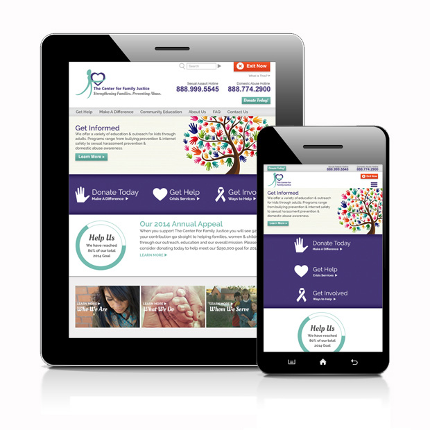 The Center For Family Justice Responsive Custom Web Design