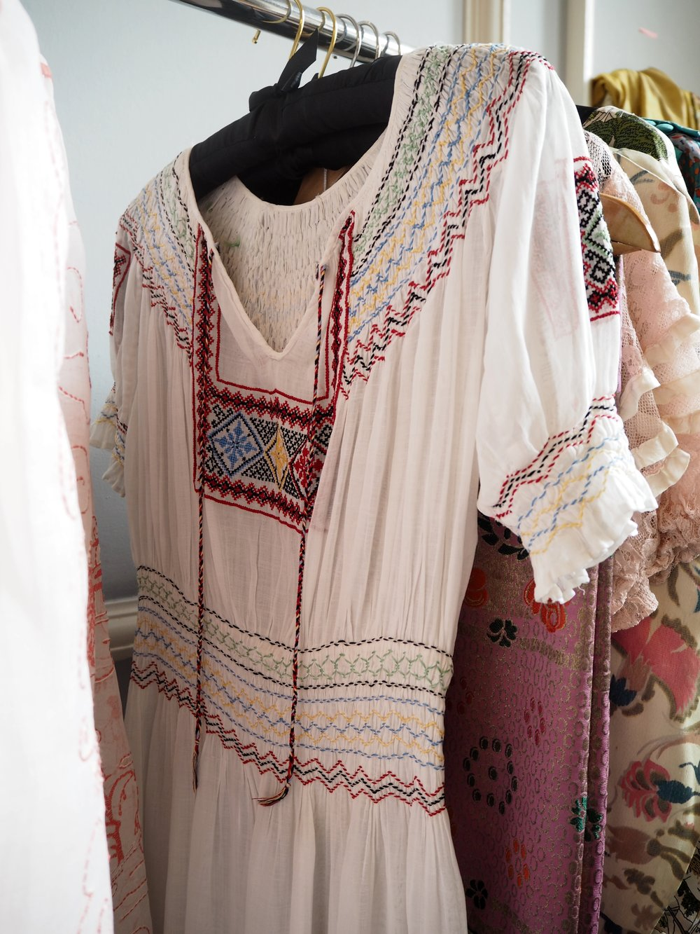 Embroidered dress from  @number40vintage