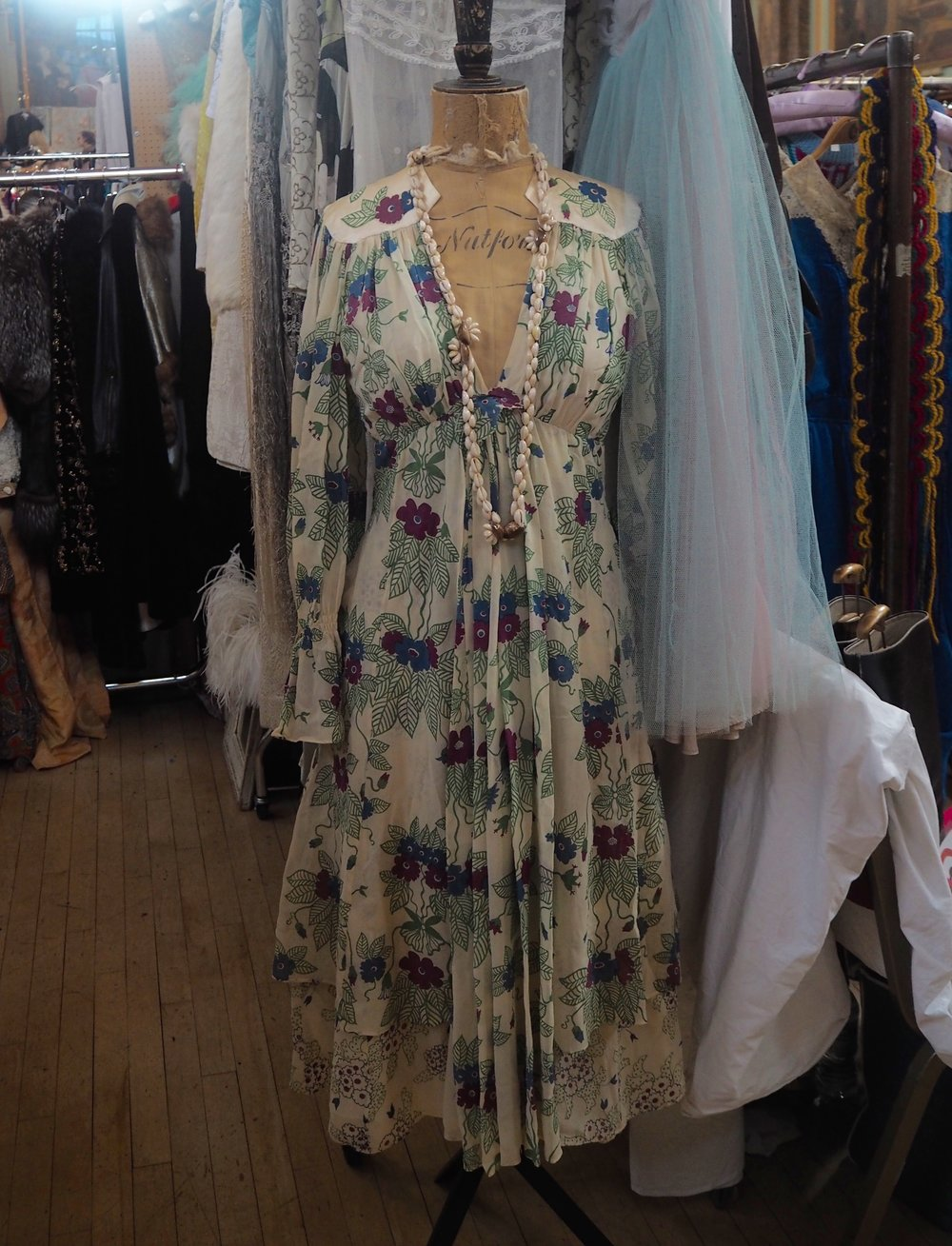 Ossie Clark dress with Celia Birtwell print from Hope & Harlequin