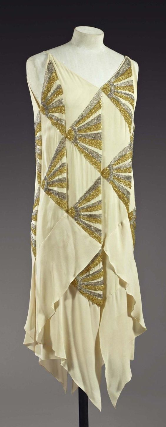 "Evening Gown ""Japanese fans"" 1925, Madeleine Vionnet"