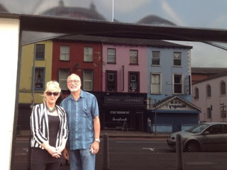 Bernadette Smyth, Director of Precious Life in Northern Ireland, and Dave Wilkinson, Executive Director of Stanton Healthcare standing together in front of the soon-to-be Stanton Healthcare Belfast.