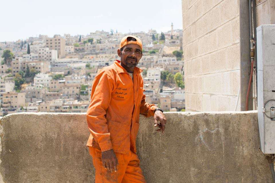 """I clean the streets. I used to work as a lifeguard at a fancy hotel on the Dead Sea, but I lost my job. I brought some of the mud from the beach to my cousin because it is good for your skin. My manager said: 'Hey! We can sell that! You're stealing!'"" (Amman, Jordan)"