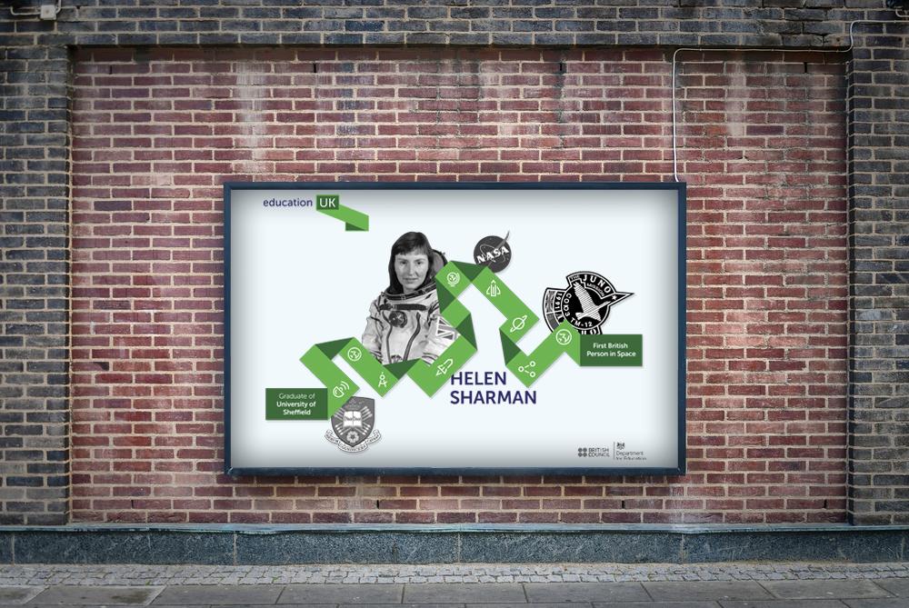 Education UK print advertising campaign in-situ