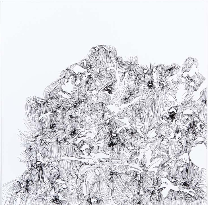 Betwixt & Between 1 2012 ink on paper 13 by 13 inches