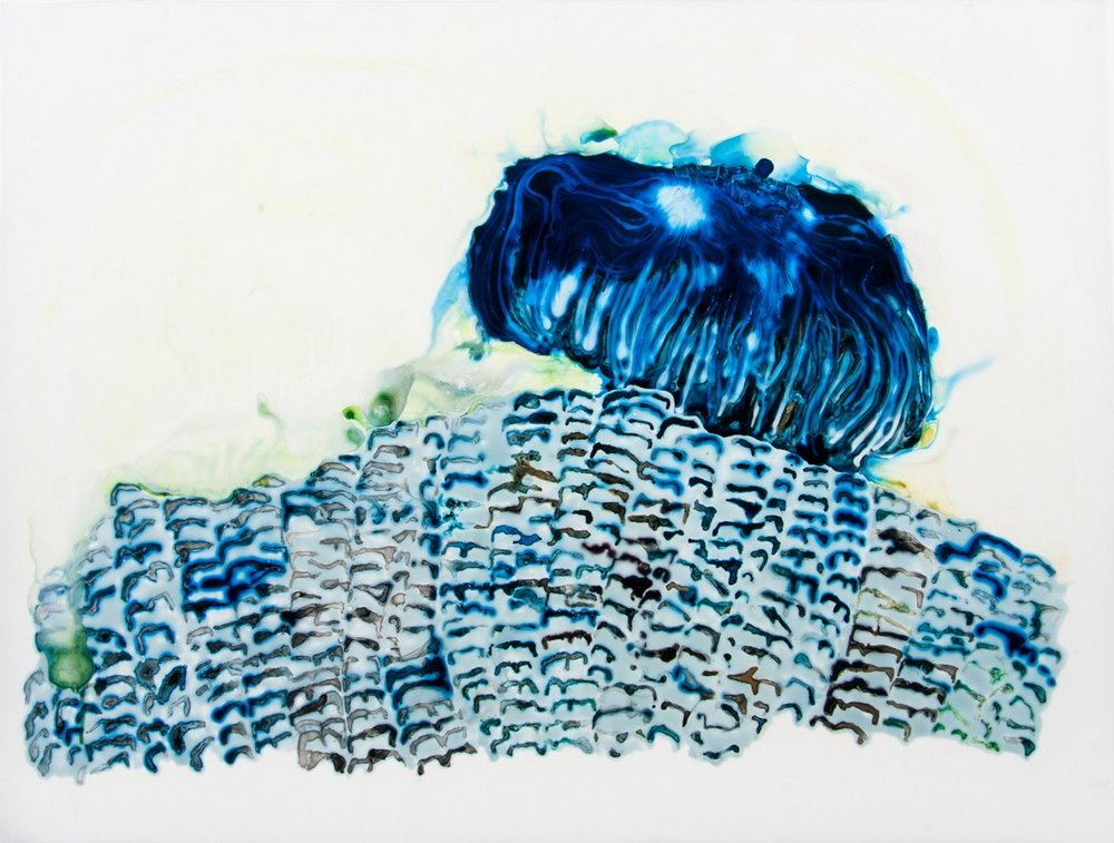 It's As Much What It Is As What It Is Not 2012 ink and acrylic on mylar 31 by 24 inches
