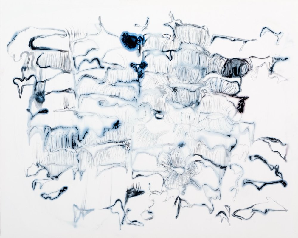 Blink Sequence 2015 ink and acrylic on synthetic paper 12 by 9 inches