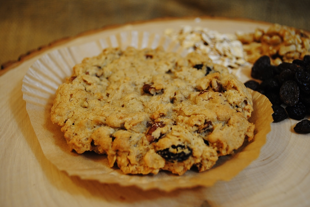 Huge Oatmeal Raisin Walnut Cookie