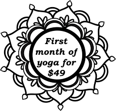Come try out our studio and get a 50% discount for your first month of unlimited yoga!