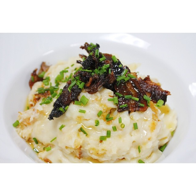 Mashed Smoked Potatoes, I guess with the candied bacon, this was close enough to dessert!   Photo Credit: Bo's Kitchen & Bar Room